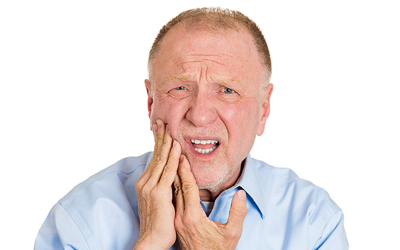 Man with Toothpain